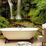 Панно в виде водопада