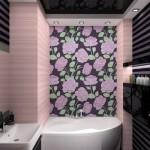 Цветочное панно для ванной