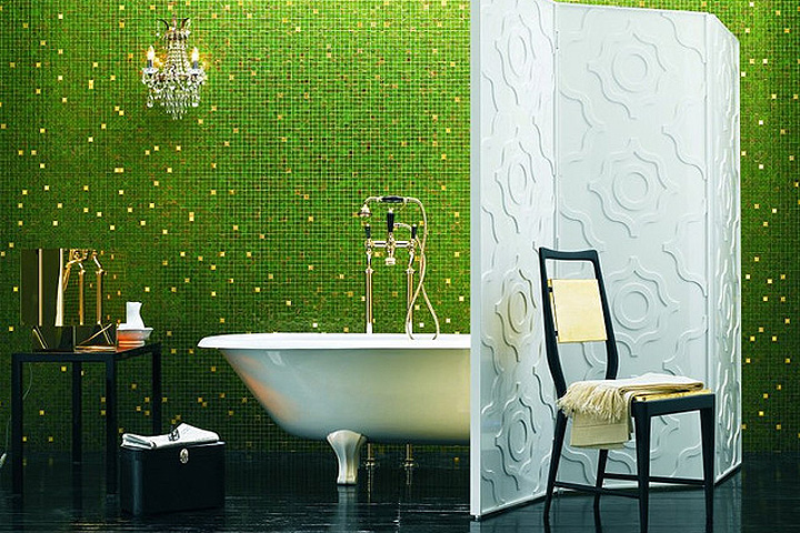 Облицовка ванной комнаты мозайкой
