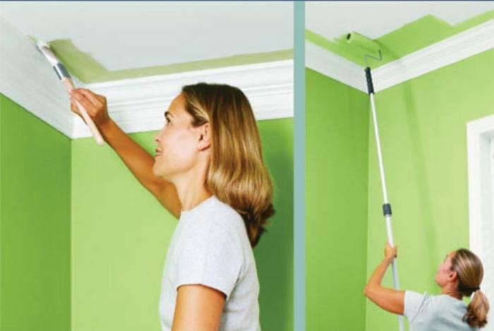 Окраска потолка в ванной комнате